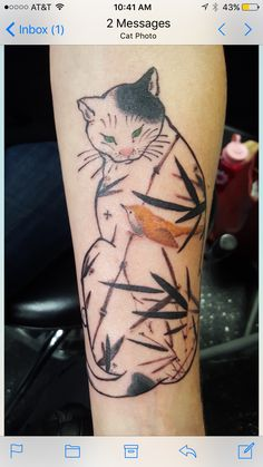 Monmon cat Great Tattoos, All Tattoos, Body Art Tattoos, Asian Cat, Back Of Shoulder Tattoo, Japanese Drawings, Asian Tattoos, Tattoo Shows, Cat Tattoo