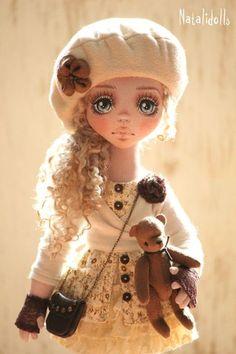 Бонита - бежевый,интерьерная кукла,авторская ручная работа,кукла в подарок