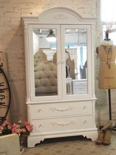 Painted Cottage Chic Shabby Romantic Armoire