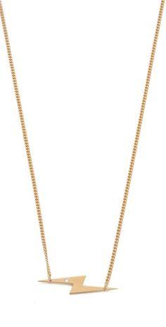 Jennifer Zeuner Jewelry Bolt Diamond Necklace