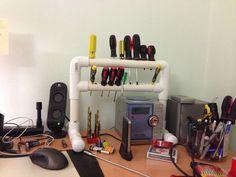PVC Screwdrivers Holder #storage #organization #workshop #tools