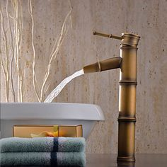 Luxury Antique Gold Brass Bamboo Bathroom Kitchen Vessel Sink Faucet Mixer  TapQuality Reclaimed Vintage Lefroy Brooks Brass Antique Gold Bath  . Gold Bathroom Taps Ebay. Home Design Ideas
