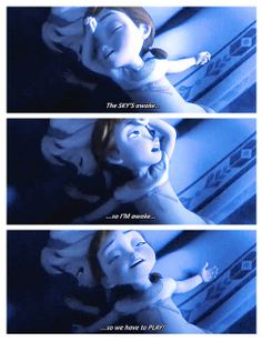 I love how Elsa is acting like this happens every morning. She's so cool with it.