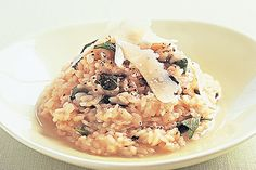 This warm, comforting and creamy risotto is given a powerful flavour boost with the addition of lemon and fresh basil.