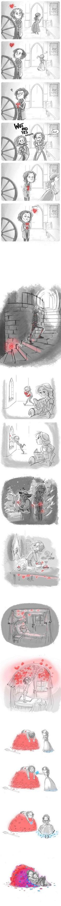 Rumplestiltskin falls in love... This is a lovely comic about falling in love…