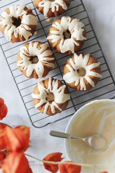 Pumpkin Spice Latte Mini Bundt Cakes. Made with coffee