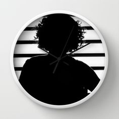 Woman Silhouette - Black&White Wall Clock - $30.00