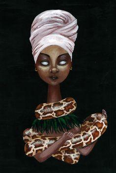 Black Women Art!, Marie Laveau by MyDarkAppetite