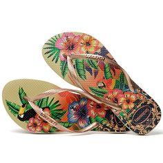 Havaianas - Tongs Femme Slim Tropical Sable - LaBoutiqueOfficielle.com