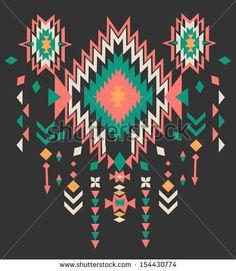 ethnic print vector pattern background by SalomeNJ, via Shutterstock