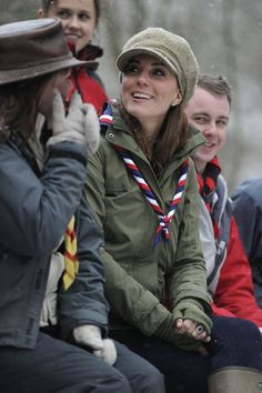 Kate Middleton chatted with cub scouts.