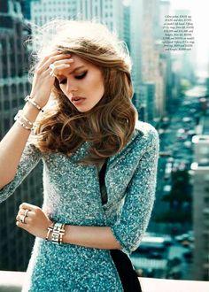 Ondria Hardin for Harper's Bazaar Australia September 2014 by David Mandelberg