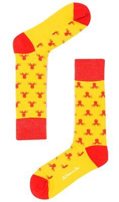 Octopus Island Yellow Socks | Mens Sock | Men Wedding Socks | Groomsmen Colourful Animal & Polka Dot Design Socks | Men's Fashion Happy Socks for Guys | Gentleman Accessories | OTAA #Sock #Mens #Style #gentleman #menfashion #menstyle #meswear #OTAA #mensfashion #wedding #party #cascual #yellow #red #octopus Wedge Wedding Shoes, Wedding Socks, Wedding Men, Crazy Socks, Cool Socks, Groomsmen Colours, Mens Designer Socks, Yellow Socks, Striped Socks