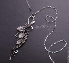 Купить Подвеска Estel - серебряный, кулон, подвеска, серебро 925 пробы, лунный камень, подарок