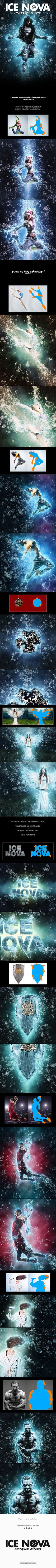 Ice Nova - Photoshop Action - Photo Effects Actions