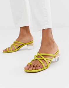 Buy ASOS DESIGN Hawaii strappy block heeled sandals at ASOS. With free delivery and return options (Ts&Cs apply), online shopping has never been so easy. Get the latest trends with ASOS now. Strappy Block Heel Sandals, Dressy Sandals, Block Heel Boots, Heeled Sandals, Block Shoes, Block Heels Outfit, Heels Outfits, Pumps Heels, High Heels