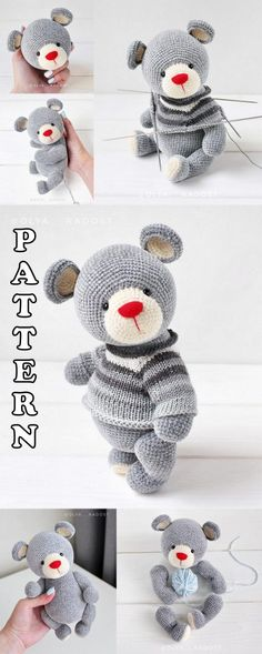 We continue our Amigurumi doll shares without slowing down. In this article I am going to share with you amigurumi crochet toy patterns. Amigurumi Toys, Crochet Patterns Amigurumi, Crochet Toys, Crochet Baby, Knitting Patterns, Crochet Animal Patterns, Knitted Teddy Bear, Easy Knitting Projects, Diy Couture