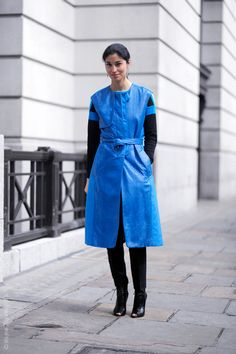 busting out two fab outfits in London today... #CarolineIssa working blue. aces. #WayneTippetts