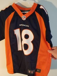 Peyton Manning 18 Denver Broncos' Youth Size Small Nike NFL Team Jersey | Sports Mem, Cards & Fan Shop, Fan Apparel & Souvenirs, Football-NFL | eBay!