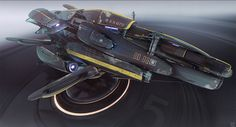 concept ships: Spaceship art by Nicolas Ferrand
