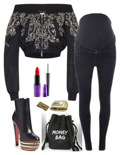 """""""Untitled #6110"""" by stylistbyair ❤ liked on Polyvore featuring Zuhair Murad, Dorothy Perkins, Christian Louboutin and MAC Cosmetics"""