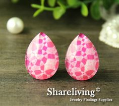 Teardrop Glass Cabs by Shareliving on framestr.com Jewelry Findings, Brooches, Charms, Pendants, Beads, Handmade, Beading, Jewelry Accessories, Hand Made