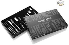 24 SILVERWARE SET - Contains a 24-piece set of 4 Dinner Knives, 4 Dinner Forks, 4 Dinner Spoons, 4 Salad Forks, 4 Teaspoons plus an extra 4-piece Special Serving Set. SERVING SET INCLUDED - No need to spend on a complementary set. A bonus set of 1 Serving Spork, 1 Butter Spreader, 1 Iced Beverage Spoon, 1 Sugar Spoon is included. TOP QUALITY STAINLESS STEEL - Made of food grade Type 304 Stainless Steel. This means these dinnerware set are safe for food, they do not bend and will not rust…