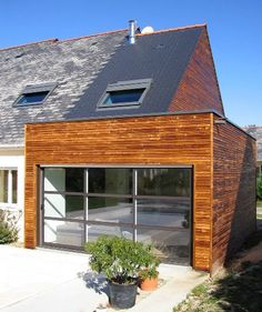 Garage Extension, Glass Extension, House Extensions, Concrete Patio, Exterior Design, Modern Architecture, My House, New Homes, House Styles
