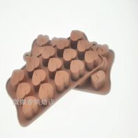 Fondant Silicon Mold Tools Love shaped silicon gel cake mould chocolate jelly pudding mold diy handmade soap baking tools