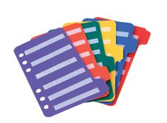 Tabbed: Small Insert Pages for PECS Communication Book (Set of 6