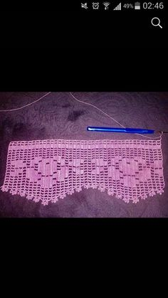 Edge Lacy-Beispiele - artesanato l - Dessin Thread Crochet, Love Crochet, Filet Crochet, Crochet Borders, Crochet Patterns, Diy Molding, Handicraft, Color Patterns, Needlework