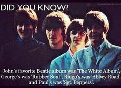 Beatles Favorite Albums. (I agree with George!)
