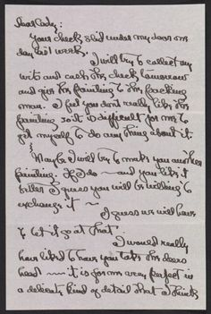 Georgia Totto O'Keeffe letter to Cady Wells