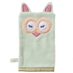 Organic Mint Owl Bath Mitt - adorable, soft and what a fab baby gift!