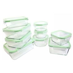 Martha Stewart Collection 12 Piece Glass Food Storage Container Set