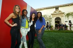 The final four American Idol contestants including winner Candice Glover (far right).