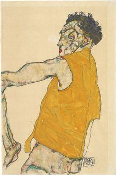 10. 'Autorretrato con chaleco amarillo', 1914 Schiele
