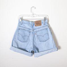 Vintage Levi's Shorts / High Waisted Shorts Faded Denim Festival Shorts Jean Shorts 80s Shorts Soft Grunge 90s Shorts Boho Chic Orange Tab by BlueHorizonVintage on Etsy