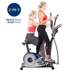Body champ BRM3671 cardio dual trainer is an ingenious two-in-one exercise machine that serves both an elliptical trainer and a stationary bike. This exercise cycle provides you a comfortable and smooth workout. It's high-quality features and affordable price not only saves your money but also save your time and space.