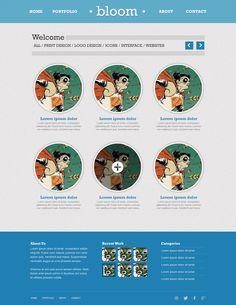 Free PSD: Minimalist Portfolio Website Layout