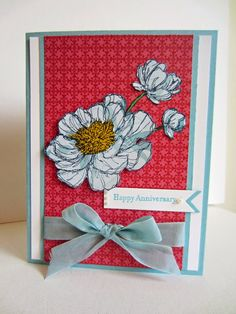 Paper Seedlings: BLOOM WITH HOPE #cardmaking #flowers #anniversary #papercrafting