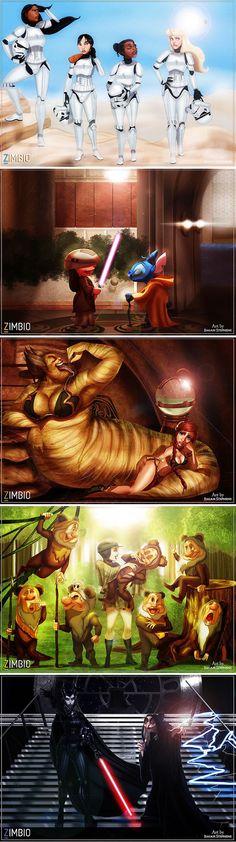 "Disney And ""Star Wars"" Characters Mashup (By Isaiah Stephens)"