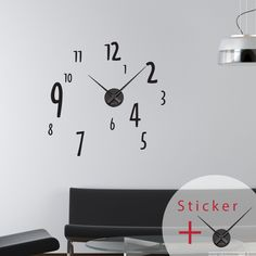 The clock is included in your package. You will be able to tell the time in your room so widely used with this #clock #wall #decal