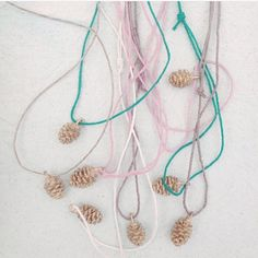 Pinecones cast in silver and bronze. Every one is one of a kind! By KelseyGrape Jewelry