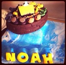 The epic Noah's ark cake! The first ever Cakey Mates cake made for a super special little man!