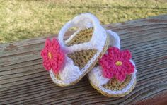 Shoes Sandals Baby Crochet Flip Flops Handmade by bjsknits