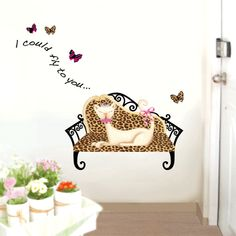 Cat on the Bench Wall Stickers. $4.99