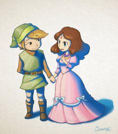 Link and Zelda by doramsc on DeviantArt