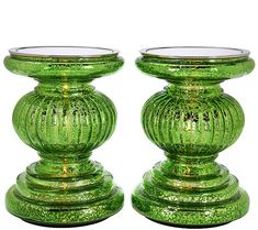 These are so much prettier in person. I LOVE these year round for my bathroom!  Great decor should be put on a pedestal--and this set of two from Valerie Parr Hill highlights your prized pieces even more with an illuminated look. QVC.com