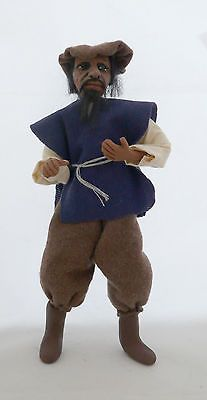 Dolls House Miniature Black Tudor Peasant Man 1-12TH Scale...Ebay